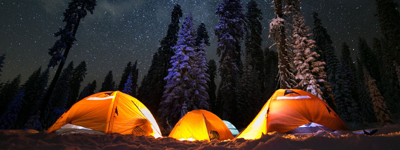 Canvas Tent Camping -